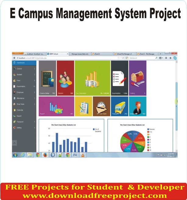 Free E Campus Management In PHP Projects Download