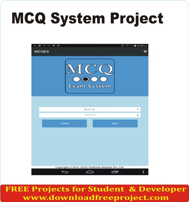 Free MCQ System In PHP Projects Download
