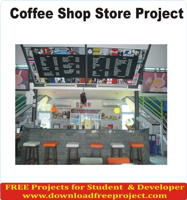 Free Online Coffee shop store In Asp.Net Projects Download