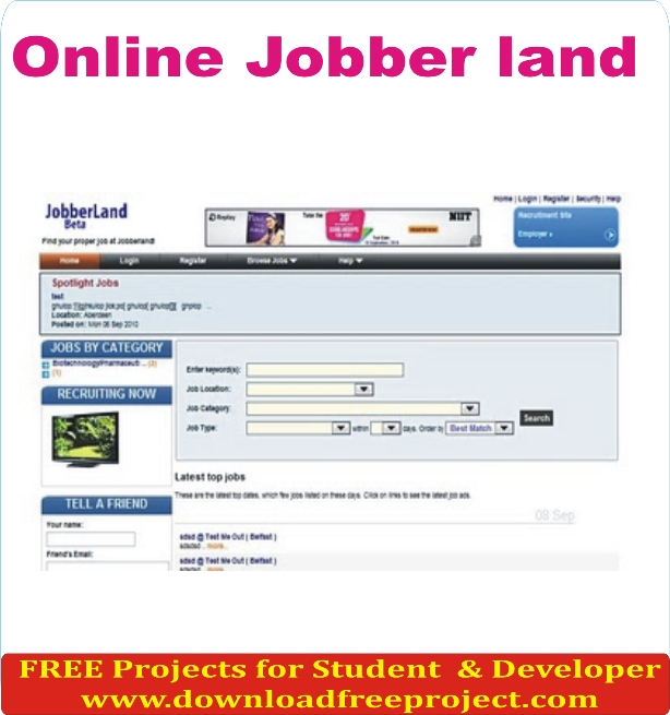 Free Online Job Portal In Asp.Net Projects Download