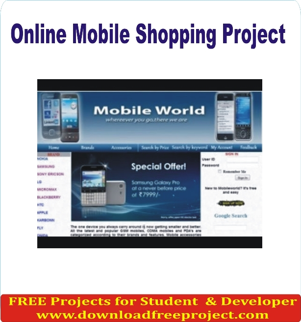 Free Online Mobile Shopping In Asp.Net Projects Download