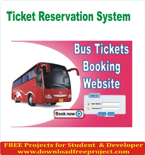 Free Online Ticket Reservation System In PHP Projects Download