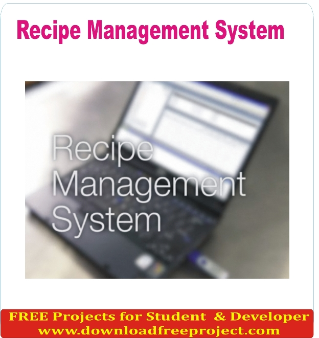 Free Recipe Management System In Asp.Net Projects Download