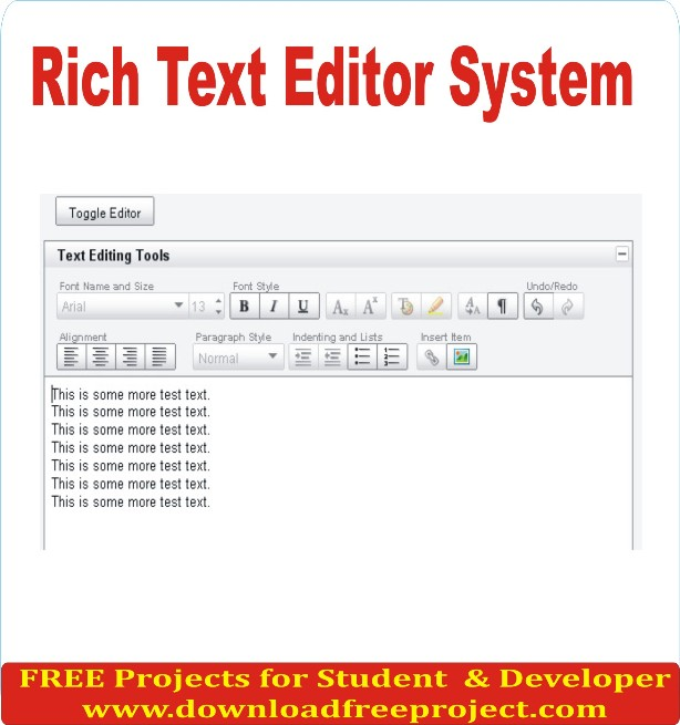 Free Rich Text Editor System  In Asp.Net Projects Download