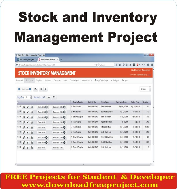 Free Stock and Inventory Management Project In Asp.Net Projects Download