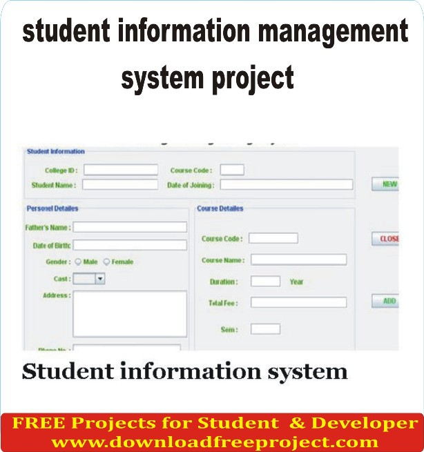 Free Student Information System In PHP Projects Download